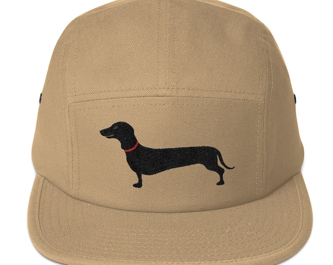 5 Panel Camper Cap Cap Embroidered/Embroidered Dachshund/Dachshund