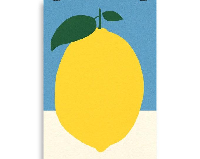 Poster Art Print Illustration – Lemon