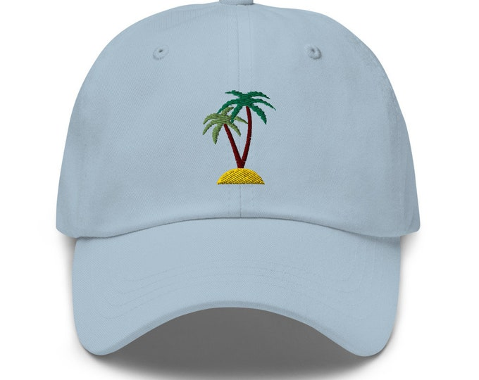 Unisex Dad Hat / Baseball Cap Embroidered with Palms / Palms
