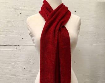 Handwoven Bamboo and Chenille Scarf