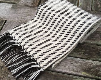 Handwoven Alpaca Striped Scarf