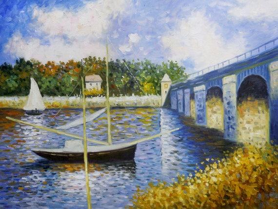 CLAUDE MONET ART PRINT Pont d/'Argenteuil 24x36 POSTER
