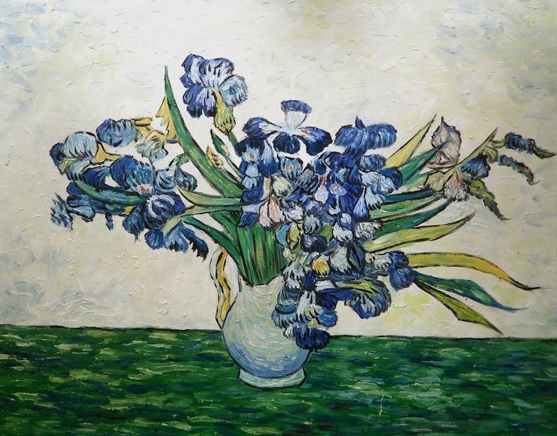 13da719645fdf Bouquet d'iris Oil Painting Reproduction Rolled Linen Canvas by Vincent van  Gogh