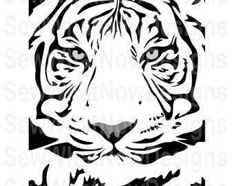 Tiger Face Svg Etsy
