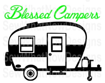 Sale! Blessed Campers SVG, Commercial cutting file, Happy Campers Printable File, Silhouette Cutting File, Cricut Cutting File Dance SVG