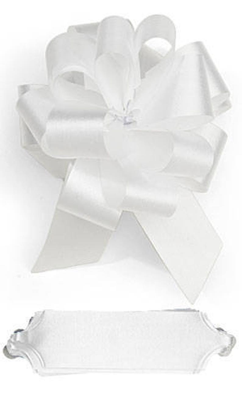 25 Pack Pull Bows Sale Box of bulk bows White 5 12 Inch