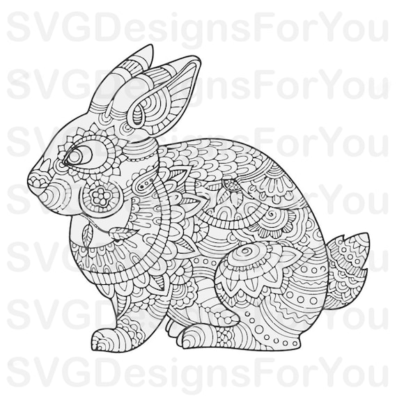 These Easter Bunny Outline Coloring Pages For Free - Domestic ... | 570x570