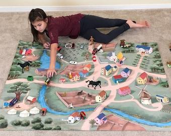 Caravan Village Children's Play Mat
