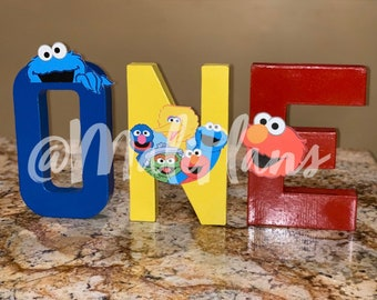 Sesame Street 1st 2nd Birthday Letters