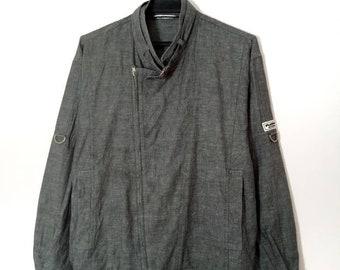 5ae1f7a9 Rare!! Vintage Playboy type Denim Jacket with Adjustable Design Full Zipper  Size Medium