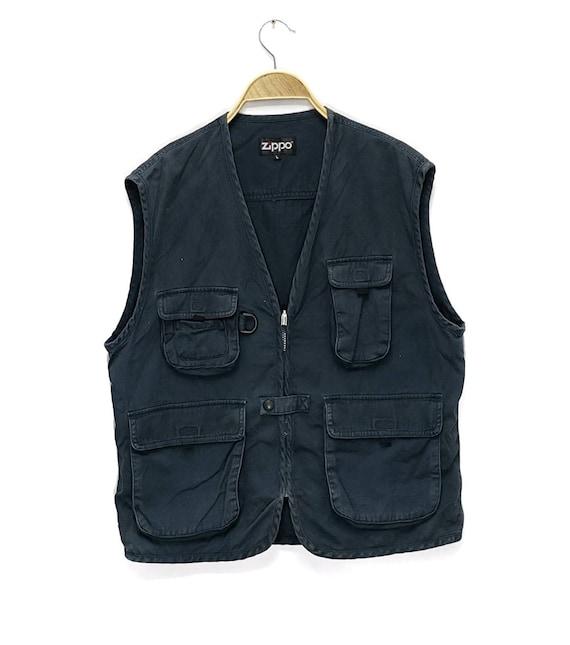 Vintage ZIPPO Tactical Vest Jacket Multi Pocket Si