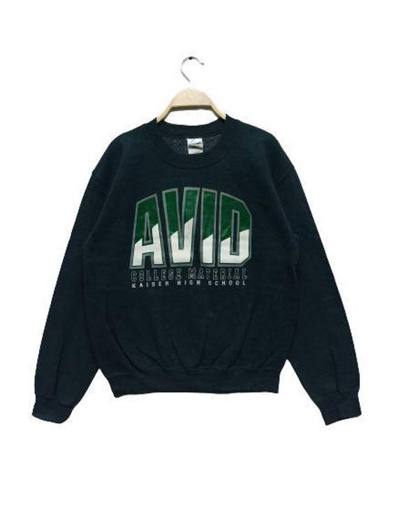 AVID College Material Sweatshirt Pullover Tag Gild