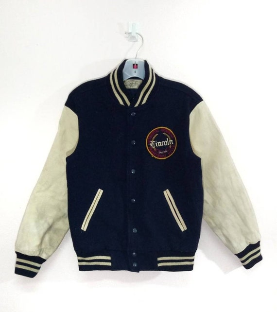 Vintage Lincoln Traditional Style Varsity Letterma