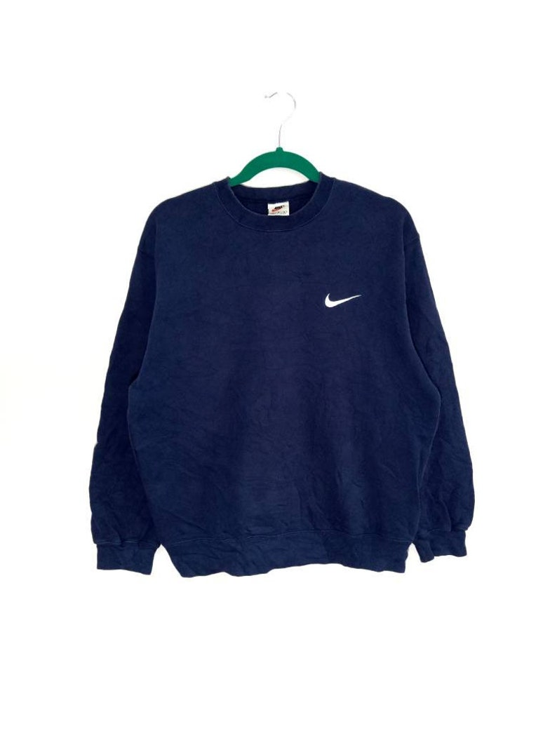 Vintage NIKE Sweatshirt Small Logo Embroidery Crewneck Nice Colour