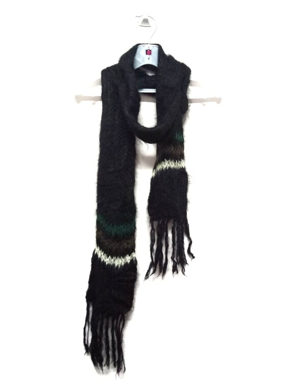 Vintage HIGHLAND 2000 Mohair Knit Scarf
