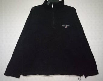 POLO SPORT by Ralph Lauren Sweatshirt Half Zipper Black Colour Nice Condition