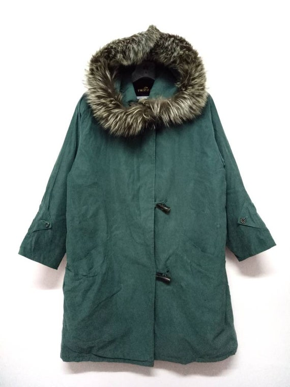 EMCHARIOT Long Jacket with Fur Hooded M size
