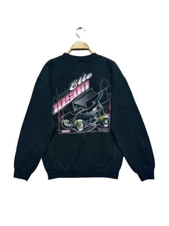 Sweatshirt Pullover Race Car Logo Gildan Tag Size