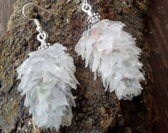 Ice Pinecone resin earrings, earrings in resin ice cones