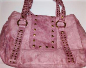 Large Suede Hobo Bag w/ Zipper Closure