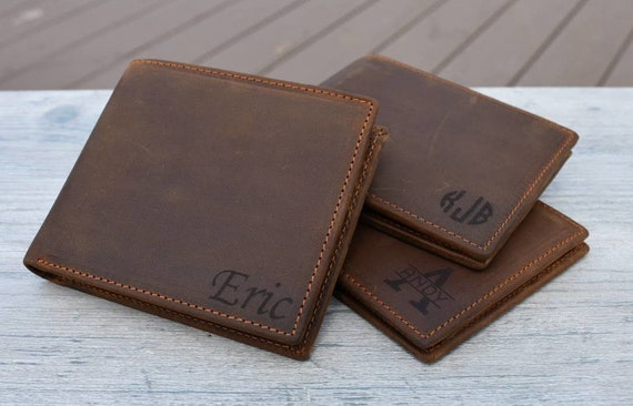 Happy Easter Genuine Leather Mens Bi-fold Wallet Personalized