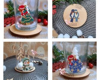 4 Diagrammes Doux hiver -  pour tissage en perles Miyuki - 4 Patterns Sweet winter - for weaving with Miyuki beads - PDF