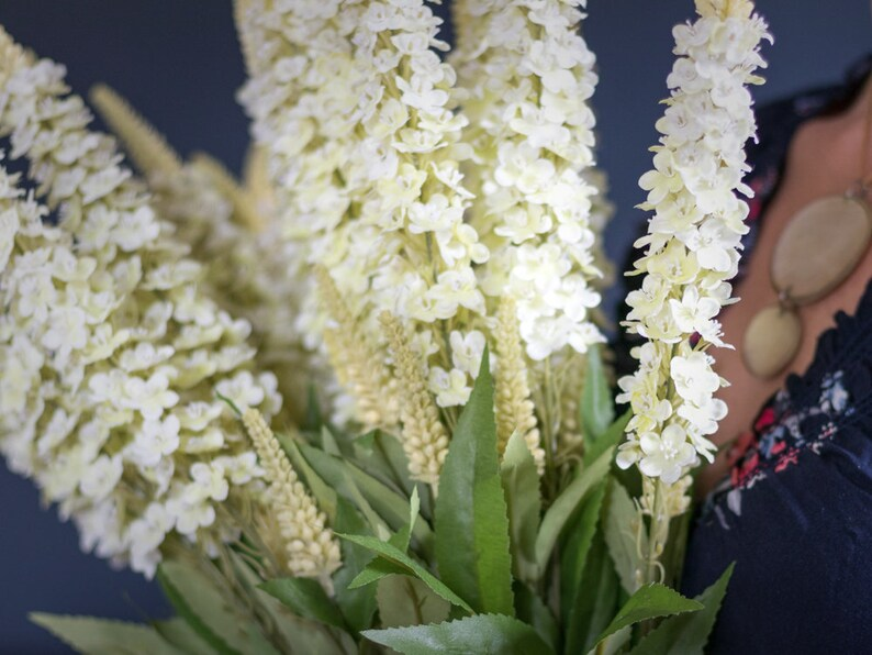 3x Veronica Flowers 29 Long Stem Speedwells White Etsy