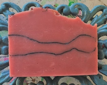 Bad Wolf - Rose Clay and Activated Charcoal Cold Process Soap