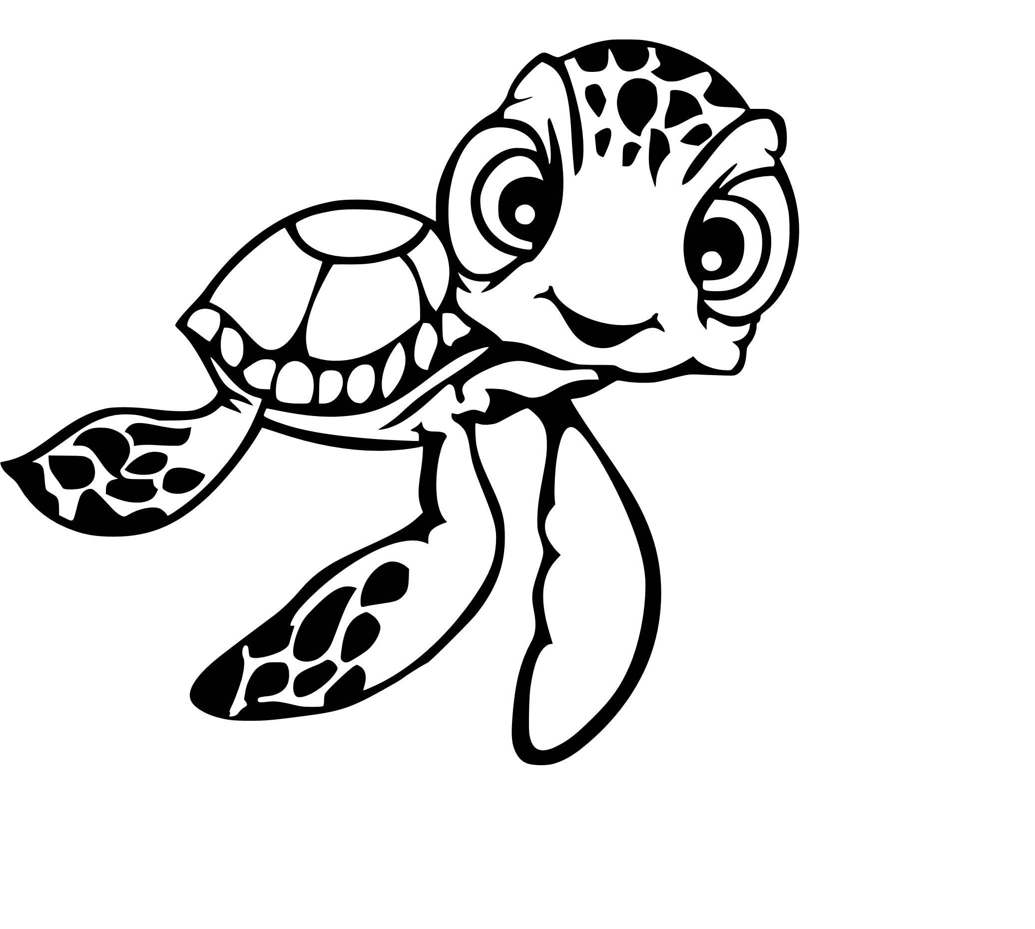 squirt turtle svg cutting file