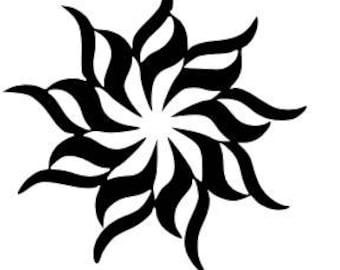 9 Point Swirl Star