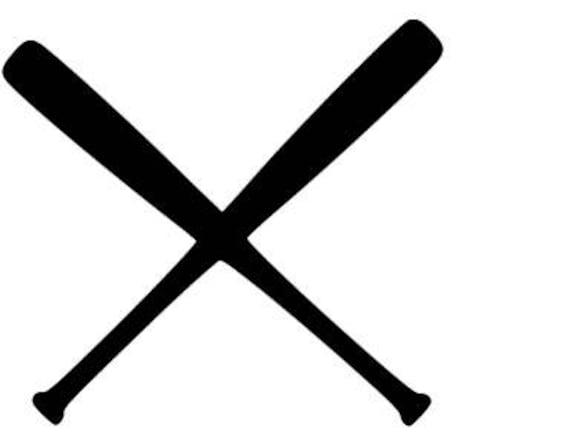 Baseball Softball Bats Crossed SVG Cutting File Etsy