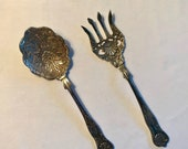 Kings Pattern Serving Spoon Fork Made in India
