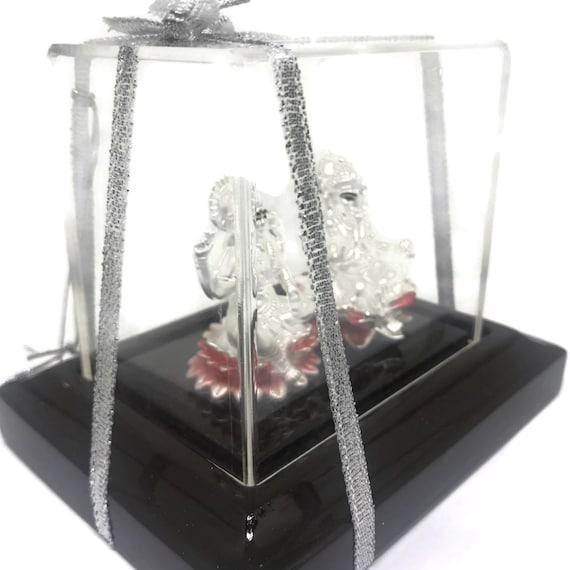 Figurine# 05 999 Pure Silver Ganesh /& LakshmiLaxmi IdolStatue  Murti