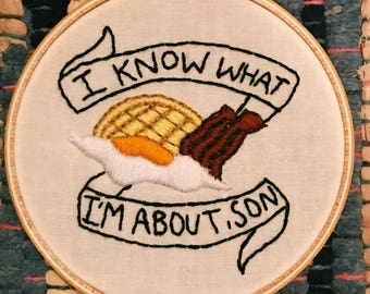 Parks and Rec Embroidery Hoop Art