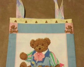 tote  bag handmade papa  bear shopping bag book bag  reusable grocery bag