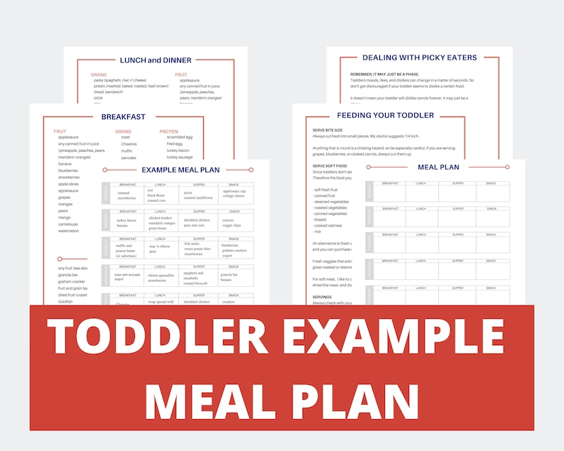 Toddler Meal Planner  Food Ideas for 1 Year Old  Toddler image 0