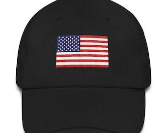 United States Flag Patriotic USA Baseball Hat dca6e0b92455