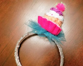 Happy Birthday Cupcake Headband - Toddlers