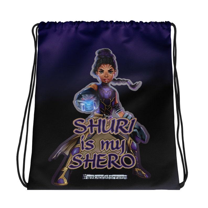 Young Shuri Black Panther Drawstring bag