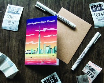 Sending Love From Toronto Greeting Card