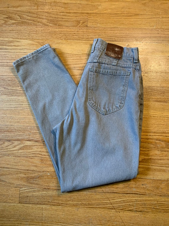 Vintage 80s Riveted Lee High Rise Mom Jeans (W28)