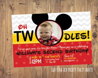 Printable Mickey Birthday Party Invite