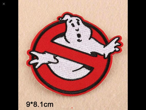 """GHOSTBUSTERS /""""WHO YOU GONNA CALL?/"""" 3/"""" PREMIUM EMBROIDERED PATCH"""