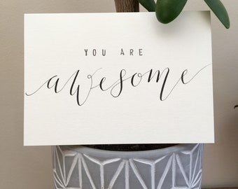Modern Calligraphy card - Awesome
