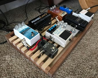 custom pedalboard etsy. Black Bedroom Furniture Sets. Home Design Ideas