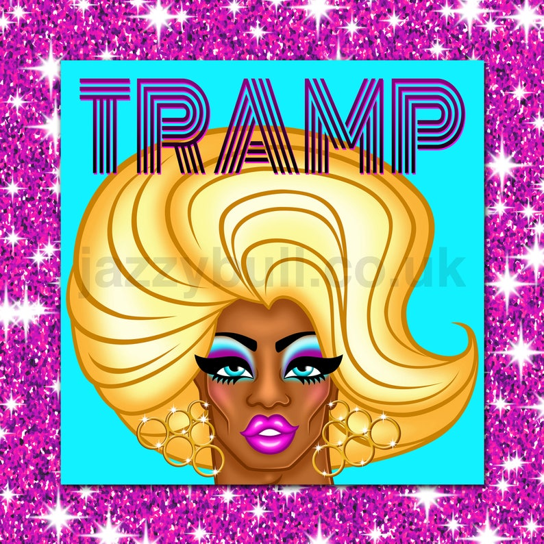 TRAMP Drag Queen Birthday Card