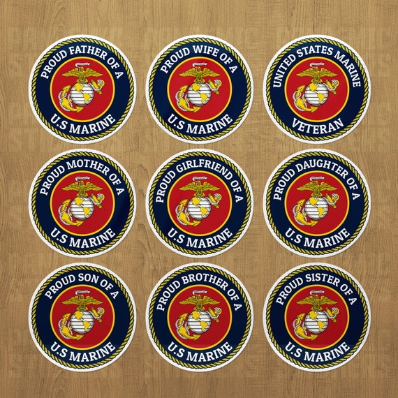 Proud Marine Daughter Military United States Solider Decal