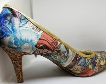 Custom Comic Book Heels