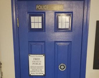Police Box Door Kit (3d printed 1960s Door Kit) Read Description