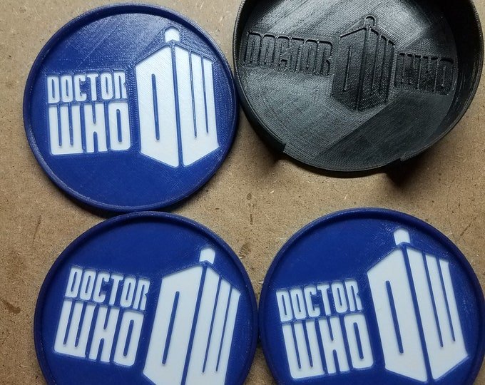 Doctor Who Coasters (3d Printed)
